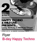Flyer - B-day Happy Techno Wild Life